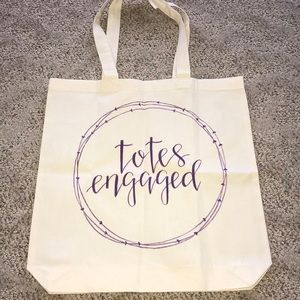 "NEW ""Totes engaged"" canvas bag"